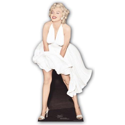 Star cutouts Stsc279 - Figurine Géante - Marilyn Monroe - Robe Blanche 157 Cm