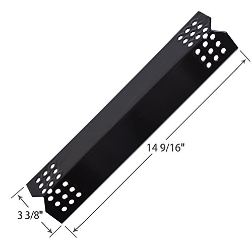 SHINESTAR Grill Replacement Parts for Grill Master 720-0697, 720-0737, Nexgrill 720-0830H, 720-0783E, 7200697, 7200737, 14 9/16 inch Porcelain Steel Heat Shield Plate Tent Flame Tamer(4 Pack SS-HP003)