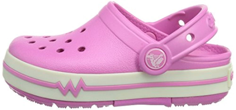 Crocs CrocsLights PS, Unisex-Child Clogs, Pink (Party Pink/White), 3 UK