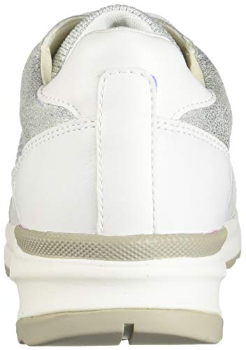 white Geox C0434 D Basse Scarpe Ginnastica Bianco C Da silver Airell Donna gfHPvgcq