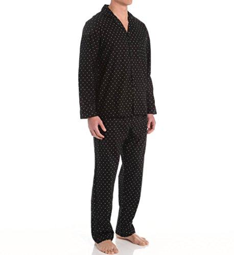 Hanes - Mens Printed Long Sleeve Broadcloth Pajama Set