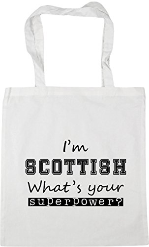 White 10 Beach HippoWarehouse Superpower 42cm Shopping Your What's litres I'm Gym x38cm Tote Bag Scottish 6Wnq6gw7