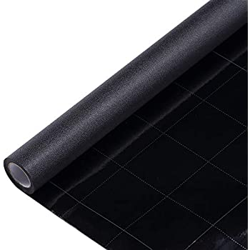 VELIMAX Static Cling Total Blackout Window Film Privacy Room Darkening Window Tint Black Window Cover 100% Light Blocking No Glue (17.7 x 78.7 inches)