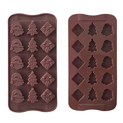 Christmas Santa Claus Christmas Tree Pattern Chocolate Party Cake Decorating Tools DIY Silicone Mold Kitchen Accessories