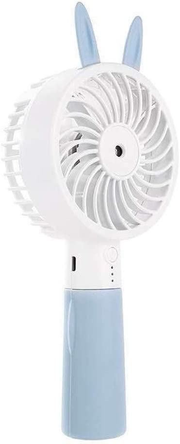 WENDUPPV Ventilador de Mano portátil Mini Ventilador de Aire Acondicionado Personal Recargable eléctrico Ultra silencioso Ventilador for la Seguridad del Recorrido al Aire Libre compartida