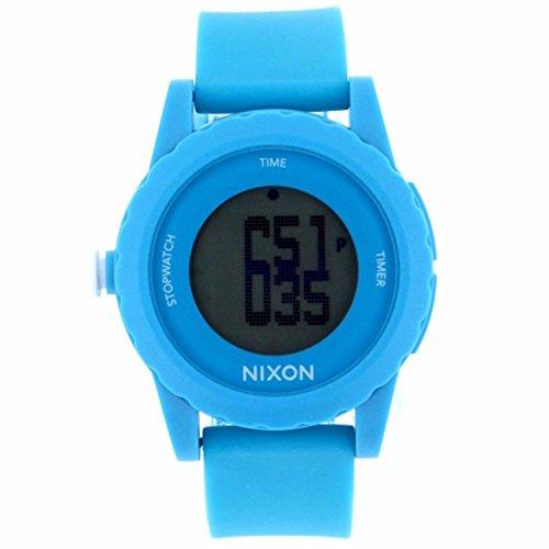 Unisex Watch Nixon A326-917 Genie Light Blue Plastic Resin Case Digital Quartz U (Watches Genie Nixon)