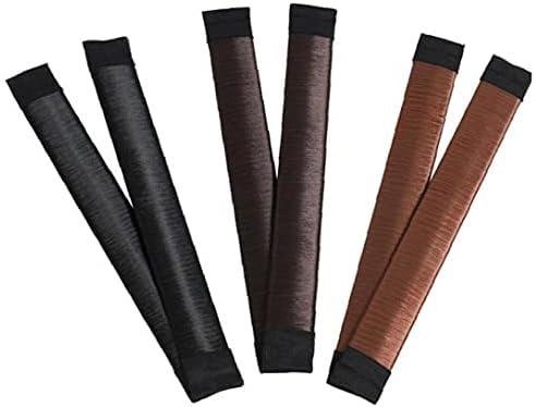 BRAVOLUNE Hair Bun Maker Franse Twist Bun Maker Hair Vouw Wrap Knot Accessoires Styling Tools for Girl Vrouwen 3 Pairs