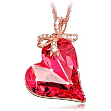 "LadyColour ♥Valentine's Day Gift♥ ""Sweet Heart"" Heart Pendant Necklace Made with Swarovski Crystals"