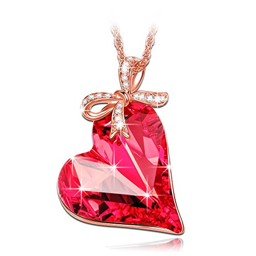 Ladycolour red heart pendant necklace swarovski crystals fashion ladycolour red heart pendant necklace swarovski crystals fashion jewelry for women buy online in uae jewelry products in the uae see prices mozeypictures Choice Image