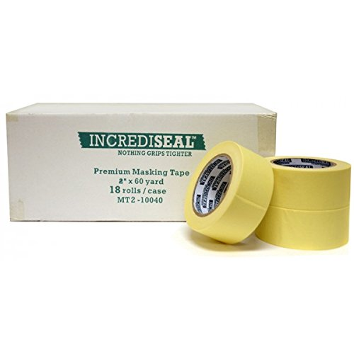 "INCREDISEAL Low Tack Masking Tape, 2"" x 60 Yards, x 4.50 mil"