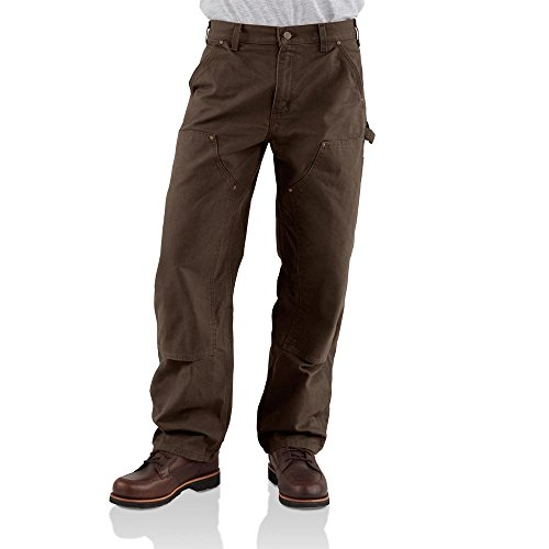 Carhartt Jeans Double Front Duck Dungaree Pants B136DKB - Brown - 36x34 from Carhartt
