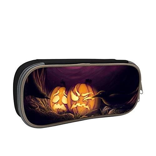 Pencil Case Poor Pumpkin Raven Pen Box Organizer Large Capacity -