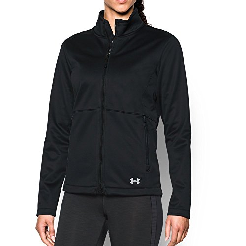 - Under Armour Women's ColdGear Infrared Softershell Jacket, Black (001)/Glacier Gray, Large