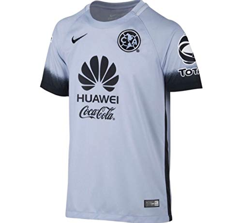 f01882b20c5 Nike Club America Short Sleeve Decept Stadium Jersey (Little Kids/Big Kids)  Porpoise/Black/Black M