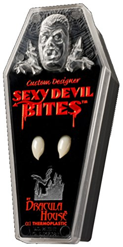Dracula House Vampire Fangs - Sexy Devil Bites Medium Teeth for Halloween Costumes