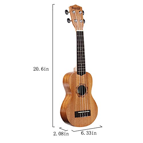 Strong Wind Soprano Ukulele 21 inch Beginer Ukulele Brown