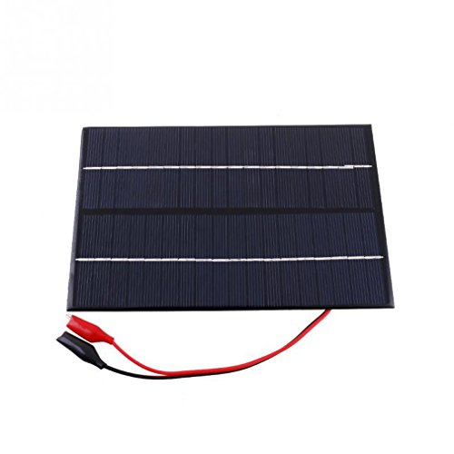 Maelu 4.2W 18V Polycrystalline Solar Panels With Alligator Clip For A Variety Of New Digital Products Black Solar Panels (New Solar Panel)