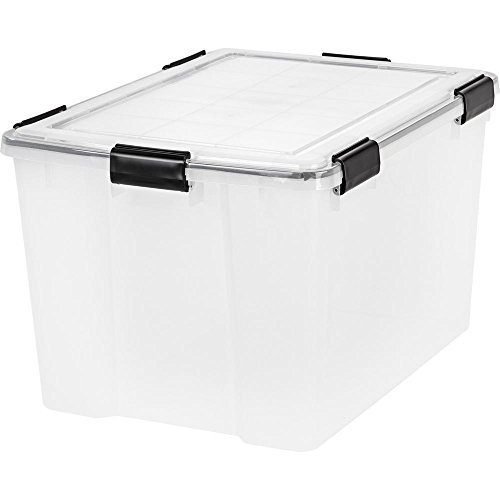 IRIS 74 Quart WEATHERTIGHT Storage Box, Clear, pack of 2