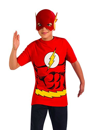 Boys Flash Shirt Mask Kids Child Fancy Dress Party Halloween Costume, M (8-10) ()