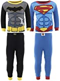 DC Comics Little Boys' Batman Superman Cotton 2-Pack Pajamas 2T