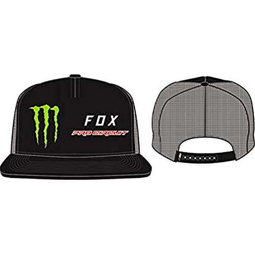 Fox Hat Adjustable - Fox Racing Men's Monster PC Snapback Adjustable Hats,One Size,Black