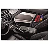 AutoExec GripMaster Car Desk in Gray Style: Retractable Writing Surface