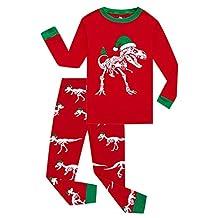 PLENTOP Toddler Kids Baby Boys Girls Cartoon Christmas Pajamas Tops Pants Outfits Set