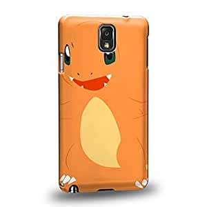 Case88 Premium Designs Pokemon Charmander Protective Snap-on Hard Back Case Cover for Samsung Galaxy Note 3