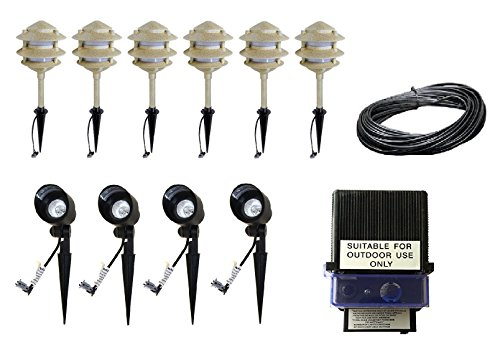 Pagoda Landscape Lighting Kits - 6