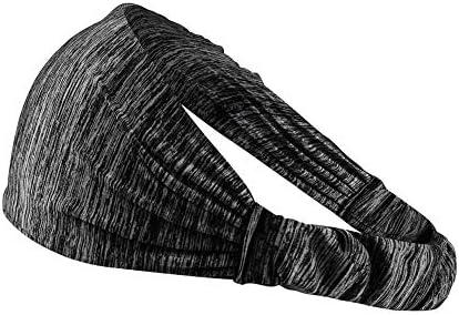 QINJLI スポーツヘアバンド、 伸縮性ポリエステル生地滑り止めシリコン吸汗速乾屋外ヘッドバンドヨガ乗馬テニス