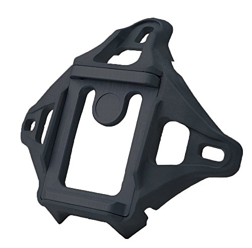 Helmet Shroud (DLP Tactical 3-Hole Skeleton NVG Mount Shroud for ACH / MICH / OPS-Core FAST / Crye AirFrame Helmet (Black))