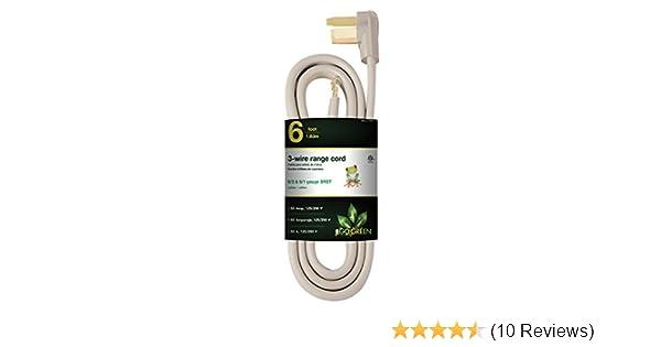 Amazon.com: GoGreen Power GG-27006 6 3 Wire Range Cord, 50 Amp: Home Improvement