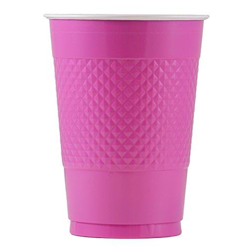 JAM Paper Plastic Cups - 16 oz - Fuchsia - 20/pack