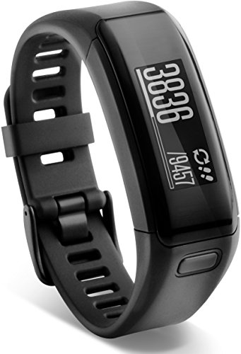 Garmin vívosmart HR Fitness-Tracker - integrierte Herzfrequenzmessung am Handgelenk, Smart Notifications, Schwarz, Gr.Regular