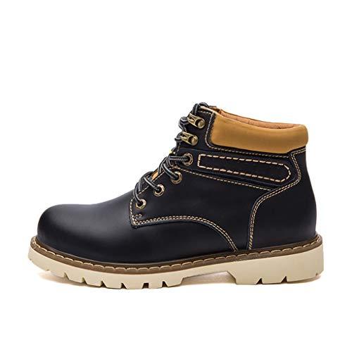 Giles Jones Motorcycle Boots for Men Winter Waterproof Non-Slip Leather Combat Boots