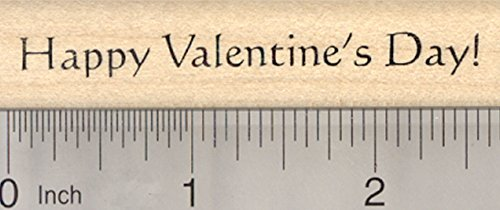 Happy Valentines Day Rubber Stamp (Happy Valentine's Day Rubber Stamp)