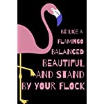 Be Like A Flamingo Balanced Beautiful And Stand By Your Flock: Sassy Notebook For All Who Love The Magnificent Flamingo