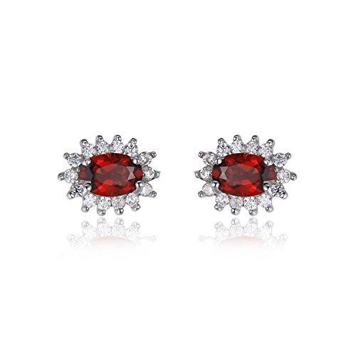 JewelryPalace Princess Gemstone Earrings Sterling product image
