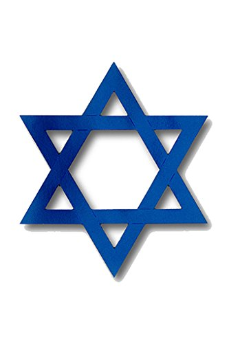 (Faerynicethings Royal Blue Foil Star of David 15