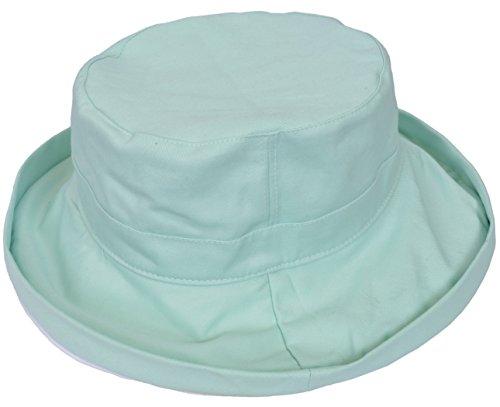 Women's Sun Hat Reversible Bucket Cap UPF 50+ Outdoor Travel Beach Hat Green by Sun Blocker (Image #2)