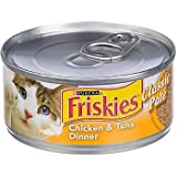 Friskies Chicken & Tuna Dinner Cat Food 5.5 oz (Pack of 24)