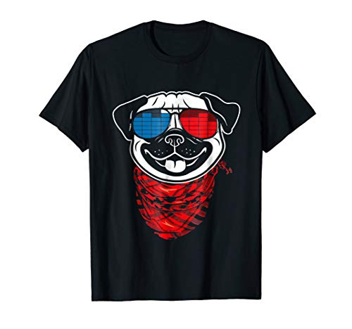 Light Up Halloween T Shirt (Pug LED Shirt Sound Activated Glow Light)