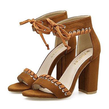 Bottes Sandales Marron Fschooly Marron Talon Us8 Printemps Chaussures 5 Pour Confort 5 Cn40 Chunky Et Dcontract Noir Eu39 Femmes Denim Uk6 Nouveaut Mariage w80awzq4