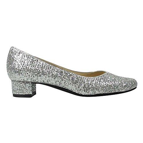 Pump Bambalina Silver J Renee Women's Fabric qU61Hp