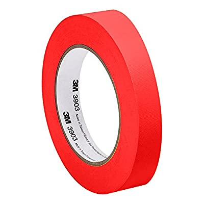 3M 3903 Vinyl Duct Tape - 0.5 in. x 150 ft. Conformable Adhesive Tape Roll - Red Rubber Adhesive Tape with Abrasion Resistance. Sealing Tapes by 3M