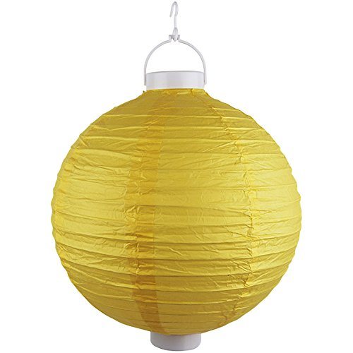 Just-Artifacts-12-Round-Battery-Powered-LED-ChineseJapanese-Decorative-Paper-Lantern-Color-Yellow