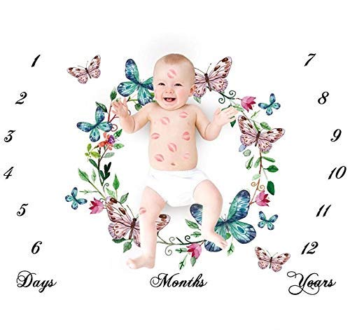Personalized Newborn Baby Girl gift swaddle Pink Unicorn Milestone blanket