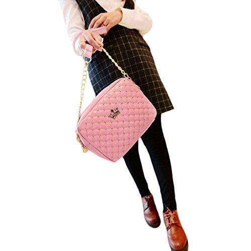 New Bandoulière Bandoulière Imitation En Fashion Chendongdong rose 1110 Rose Cuir Femme À Main Sac Cdd 1xqfFwaS
