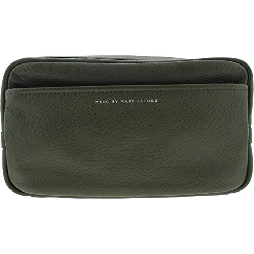 - Marc by Marc Jacobs Mens Dopp Leather Zip Around Toiletry Kit Green Small