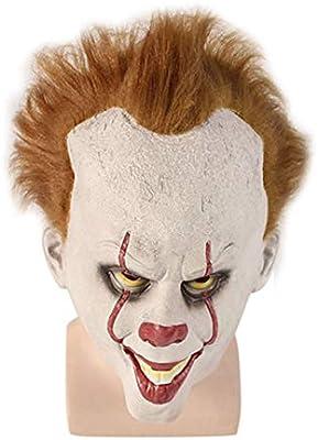 Almabner Máscara de Terror, máscara de Payaso de Halloween ...